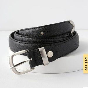 Lulu Vegan Leather Belt 0/S